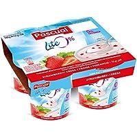 Pascual, Yogures lite 0% con fresas y enriquecido en calcio 4x125 g(4x125