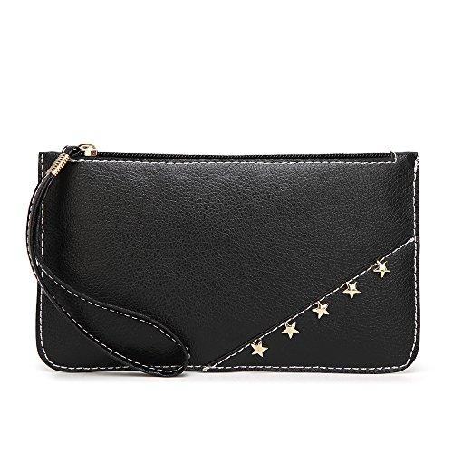 Geldbörsen Damen Esprit Felicove, Handtasche aus Reiner Farbe Leder Messenger Bags Münztasche Handytasche