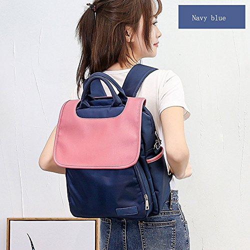 Preisvergleich Produktbild Unbekannt Mamabeutel Mutter-Kind-Paket Multi-Funktions-Po Mutter Tasche aus Mode Schultern Mutter Rucksack (Color : Navy blue)