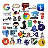 Sanmatic 108Pcs Laptop Aufkleber für Entwickler Programmiersprache gehören Aufkleber IT-Logo, C ++, Python, Linux, Swift, für Geeks, Ingenieure, Hacker, Geeks, Coder