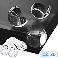 "Corner Protectors for Kids - Safety Protections for Tables, Furniture - Clear Guards for Baby Child -""Crystal"" Technology - Free 2 Safety Locks - Certified Product"