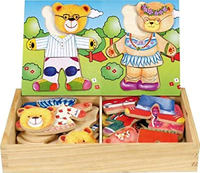 Ulysse Couleurs d'enfance - Puzzle para encajar piezas de madera, diseño de osos por Ulysse Couleurs d'enfance