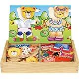 Ulysse Couleurs d'enfance - Puzzle para encajar piezas de madera, diseño de osos