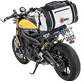 QBag Motorrad-Hecktasche Hecktasche/Gepäckrolle wasserdicht 04, widerstandsfähig, reißfest, anklickbarer Schultergurt, reflektierende Keder, universelle Passform, Hellgrau, bis zu 80 Liter