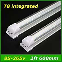 Generic Warm White, Frosted Cover 2ft : T8 Integrated LED Tubes 600mm 2ft 10w Light AC85-265V 48LED SMD2835 Super Bright 1000lm Fluorescent