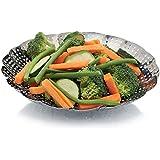 Kitchen Craft KCSTEAM23 - Cesta plegable para cocción al vapor en acero inoxidable , 23cm
