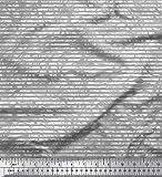 Soimoi Grau Satin Seide Stoff Camouflage Texture & Vertikal