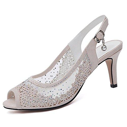 DUO Infradito Sandali Scarpe da donna PU Primavera Estate Light Soles Heels  Low Heel Buckle for Casual elegante ( Colore   A  f5eabc28c08