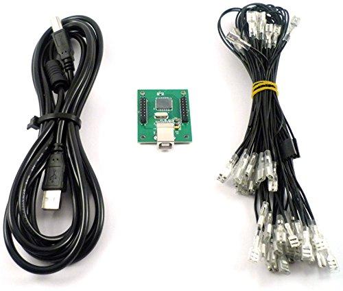 Extreme Hardware XIN-MO XM-022 Carte contrôleur pour 2 joueursavec câble USB et...