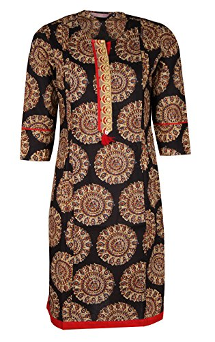 Mothers Bay Women's Cotton Feeding Kurti, Brown Color (Large)