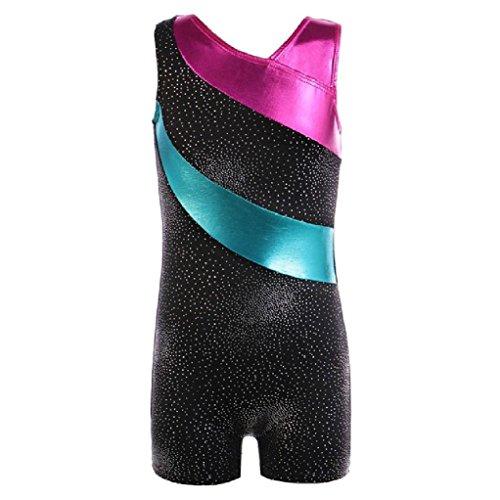 Y Mädchen ein Stück Ballett gymnastik Trikot dnace Tutu Streifen ärmellose Kinder Ballett dancewear Kostüme Biketard (Biketard Kostüm)