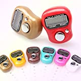 Skyfun 10 Pieces Mini Hand Tally Counter Re-settable, With Finger Strap Counting Machine Finger Ring 5 Digit Digital Electronic Japa Head Count
