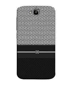 PrintVisa Designer Back Case Cover for Huawei Honor Holly 2 Plus :: Huawei Honor 2 Plus (Pattern checks black grey diamonds)