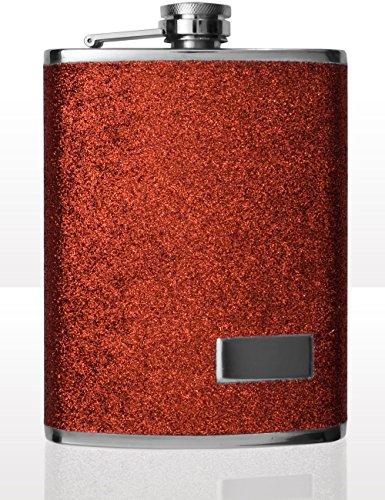 Outdoor Saxx® - Edelstahl Flachmann, Design Glitter