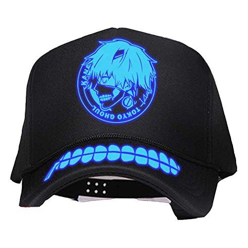 Mesky Tokyo Ghoul Cap Jungen Mütze Comic Hat Sport Mütze für Reise und Outdoor Leuchtend