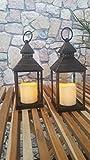 2 er Set Romantisch dekorative LED Laternen 24 cm x