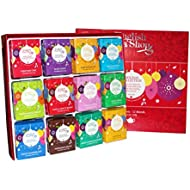 English Tea Shop Organic Holiday Red Baubles Tray (Pack of 96 Tea Bags)