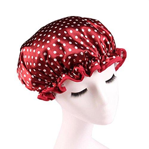 Clode® Frauen Dusche Kappen Bunte Bad Dusche Haar Abdeckungs Erwachsene wasserdichtes Baden (A) (Extra Große Dusche-kappe Für Frauen)