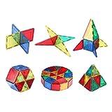 Shinehalo Magnetische Bausteine Bauklötze Konstruktions-Spielzeug Set, Helle Fenster Art mehrfarbiges kreatives Spielzeug für 3D-Gebäude, helfen Phantasie, Kreativität und Intelligenz zu verbessern (32pcs)
