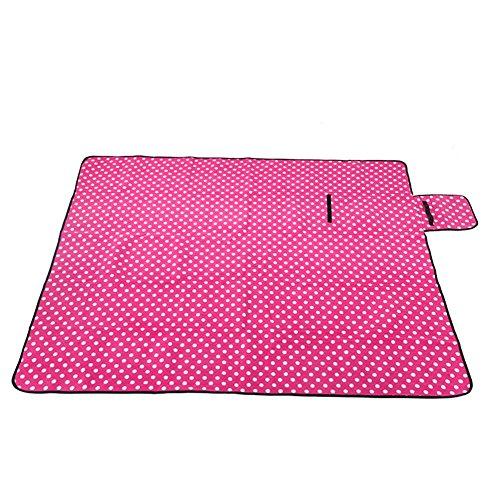 multifunktions-klapp-outdoor-picknick-matte-camping-rug-beach-mat-travel-playmat-pink-polka-dot-200-
