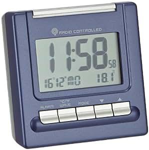 radio alarm clock bergamo blue metallic amazon. Black Bedroom Furniture Sets. Home Design Ideas