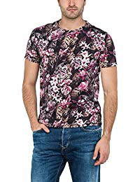 Replay Black All Over Multi Flower Design T-Shirt - M3485-010