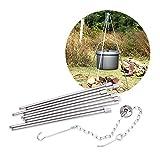 FRFJY Griglia per treppiede Pieghevole per Barbecue e treppiede per Barbecue all'aperto da Campeggio per Barbecue