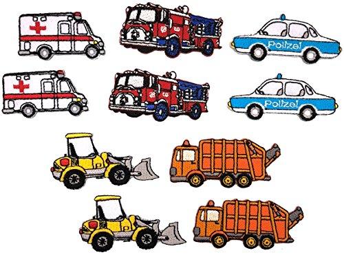 i-Patch - Patches - 0113 - Feuerwehr - Polizei - Müllwagen - Traktor - Krankenwagen - Auto - Flicken - Aufnäher - Badges - Bügelbild - Aufbügler - Iron-on - Applikation - zum aufbügeln - Patch
