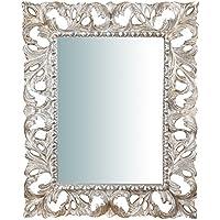 Foglia argento specchi da parete specchi casa e cucina - Specchi da parete amazon ...