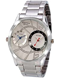 Exotica Black Dial Analogue Watch for Men (EF-Dual-95-White)