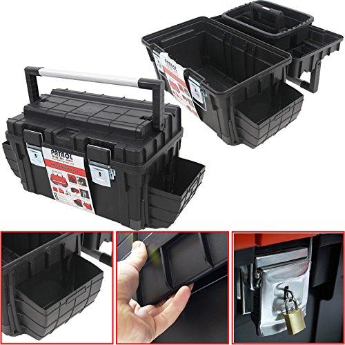Kunststoff Werkzeugkoffer Formula HD BOX Trophy 1 Plus, 80x35cm Kasten Werzeugkiste Sortimentskasten Werkzeugkasten Anglerkoffer