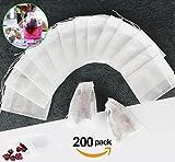 YKEZHU Teebeutel, 200 Stück Teefilter Einweg Teabag, Filterbeutel, Filtervlies für Tee Obsttee Teeblumen Gewürz Kräuterpulver in Teekanne Tasse, 7 X 9 cm