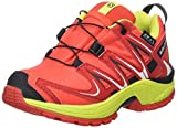 Salomon Kinder XA Pro 3D CSWP Trailrunning/Outdoor-Schuhe, Rot (Fiery Red/Sulphur Spring/Black), Gr. 27