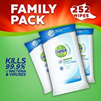 Dettol Anti-Bacterial Cleaning Surface Wipes, 84 Wipes, Pack of 3, Total 252 Wipes