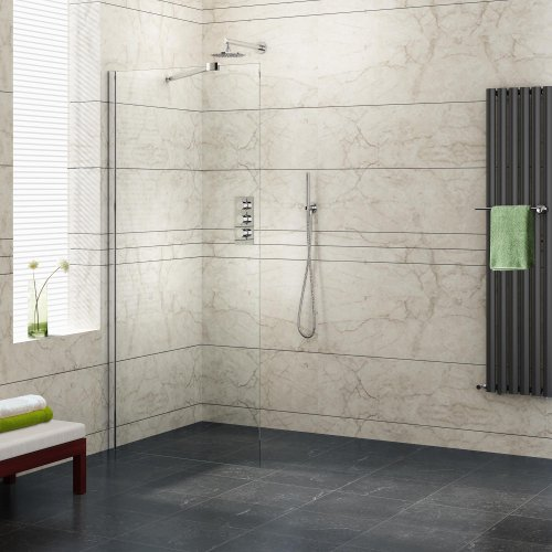 760mm Wetroom Shower Enclosure Glass Screen Panel Set