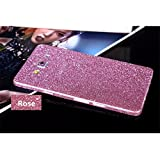 Heartly Sparking Crystal Diamond Protective Film Whole Body Phone Skin Sticker For Samsung Galaxy On8 / Samsung Galaxy J7 (2016) - Cute Pink