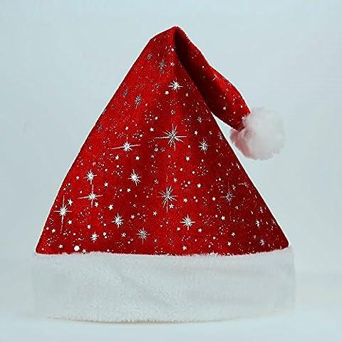 FEI&S alta calidad de adultos niños adultos Santa Hat Hat gorro de fiesta de Navidad