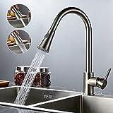 Auralum® Küche Wasserhahn Mischbatterie Einhandarmatur Waschtischarmatur Ausziehbare brause