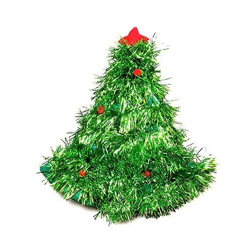 (TianranRT Weihnachten Party Weihnachtsmann Hut Rot Und Weiß Mütze für Weihnachtsmann Claus Kostüm Neu (Grün))