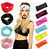 SONGQEE(TM) Hot Women Cotton Turban Twist Knot Head Wrap Headband Twisted Knotted Hair Band (red)