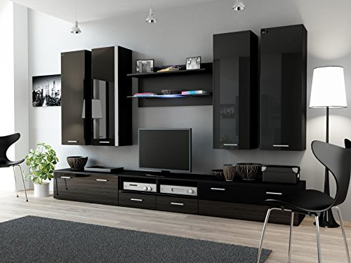 Wohnwand DREAM III, Anbauwand, Wohnzimmer Möbel, mit LED Beleuchtung