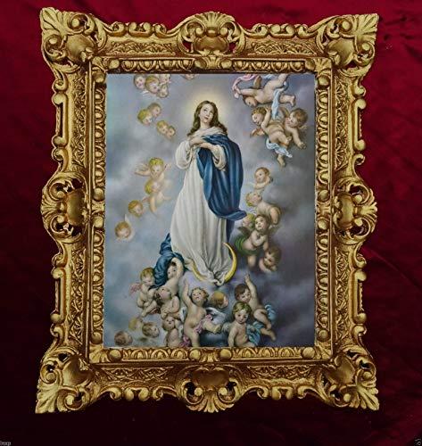 Selige Jungfrau Maria die Unbefleckte Empfängnis Madonna Bild Gemälde 45x38cm