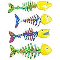 Bid Buy Direct® Pack de 4 brillantes piscinas de agua atrapar peces juego bajo el