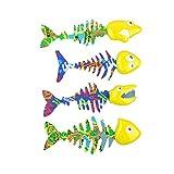 Bid Buy Direct® confezione da 4luminoso piscina acqua Catch Fish Game | Underwater Pool Diving Toys set | Migliora il nuoto/immersione abilità di gioco e divertimento.