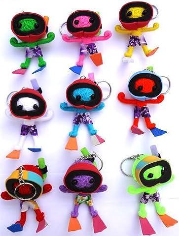 1 x Random Colour Scuba Diver Voodoo Doll