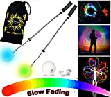 Flames 'N Games LED Glow Poi - Multi-Colour / Slow Fade + Travel Bag!
