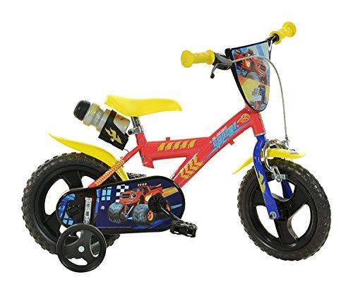 "Dino Bikes Blaze Infantil Unisex Ciudad 12\"" Metal Rojo, Amarillo bicicletta - Bicicleta (Plegado, Ciudad, 30,5 cm (12\""), Metal, Rojo, Amarillo, Cadena)"