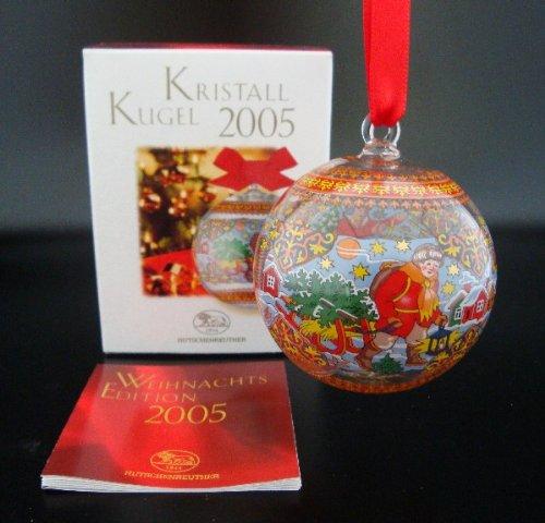 Hutschenreuther Kristall Kugel 2005*Rarität*Neu, Weihnachtskugel, Glaskugel, Kristallkugel, Weihnachten, Anhänger, Baumschmuck, Baumanhänger -