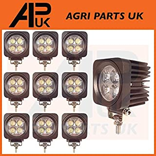 APUK 10 X 12W LED Work Light Lamp Flood Beam 12-24V Boat Digger Tractor SUV 4X4