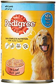 Pedigree Lamb, Wet Dog Food, Can, 24 x 400g
